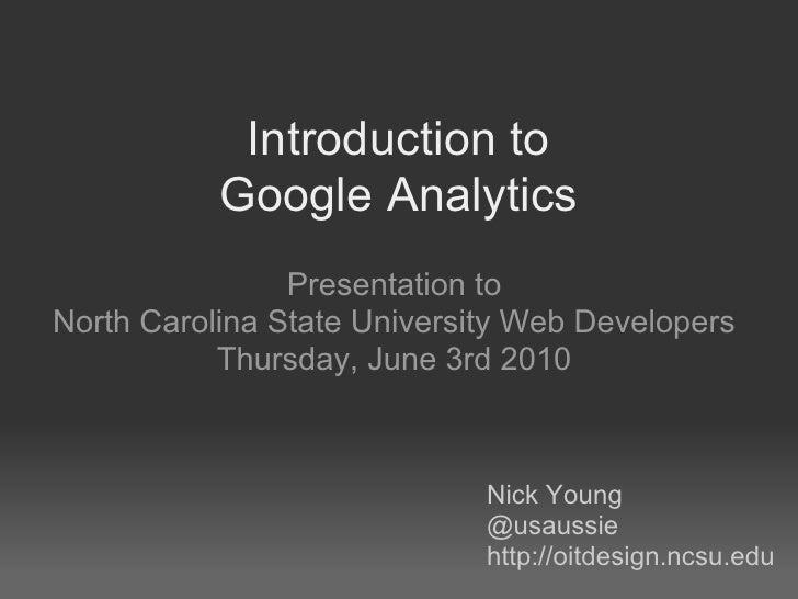 Google analyticspresncsuwebdev