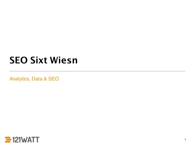 SEO Sixt Wiesn  Analytics, Data & SEO  1