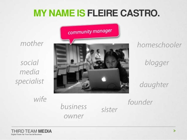 MY NAME IS FLEIRE CASTRO.THIRD TEAM MEDIADigital Team for Your Social Business