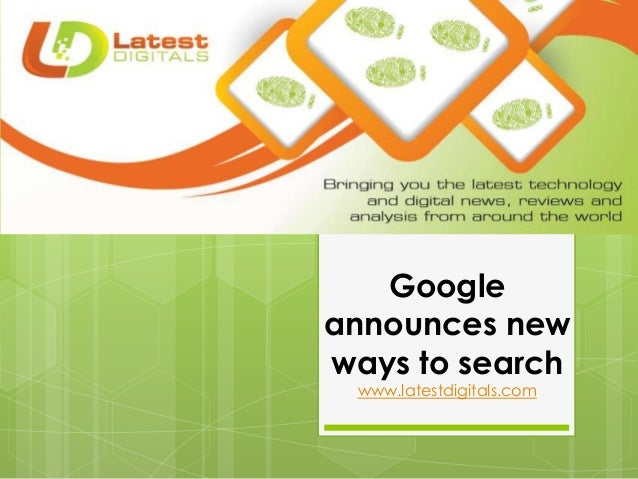 Google announces new ways to search