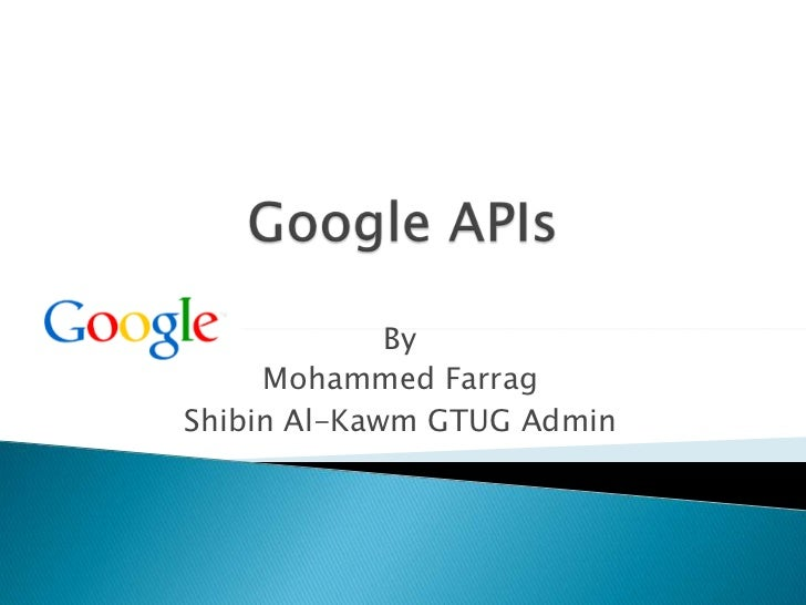 Google APPs and APIs