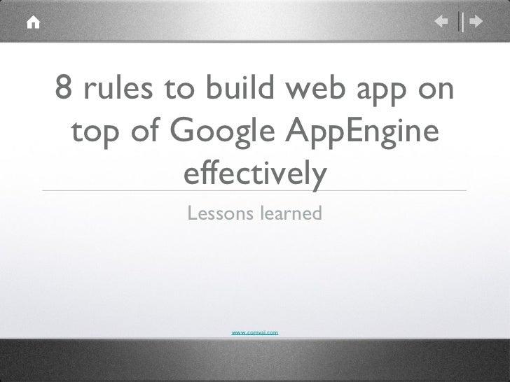 Google app engine example apps