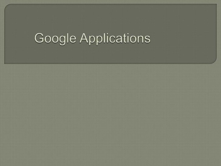 Google applications 2.6
