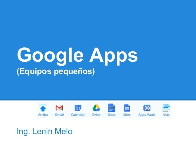 Google apps 2012 (equipos pequeños)