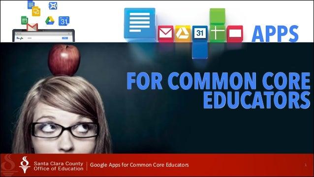 Google Apps for Common Core Educators Pt 1