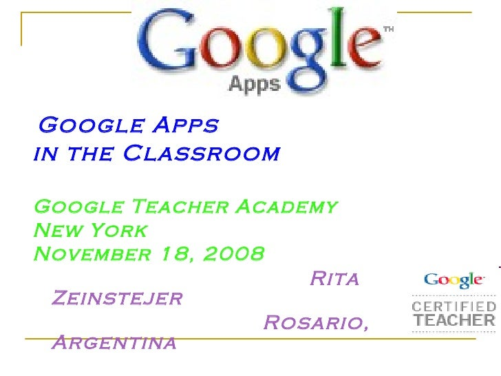 Google Apps In The Clasroom For Tesol 2010
