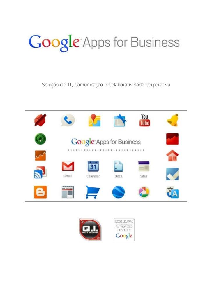 Solução de TI, Comunicação e Colaboratividade Corporativa