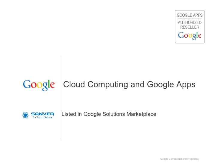 Cloud Computing and Google Apps Listed in Google Solutions Marketplace