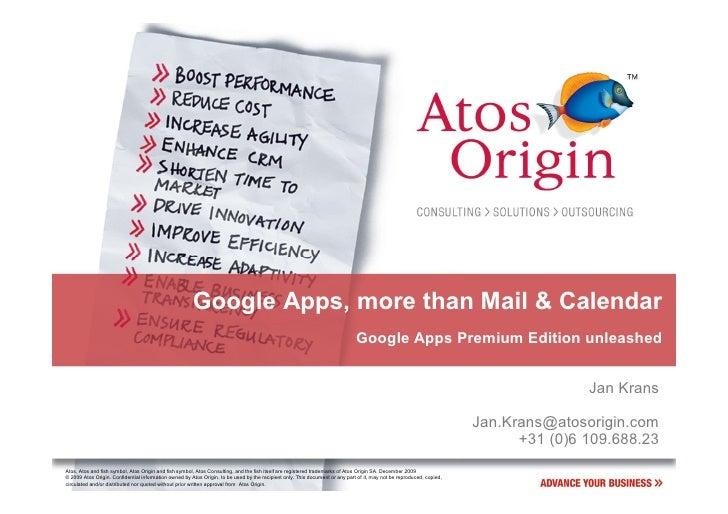 Google Apps, more than Mail & Calendar                                                                                    ...