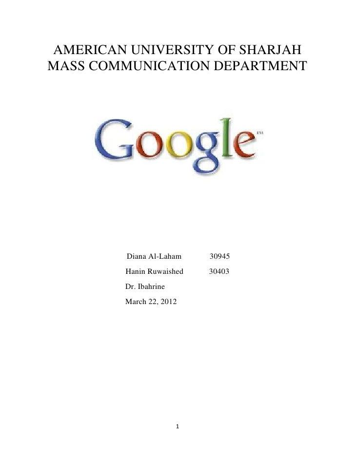 Google assignment