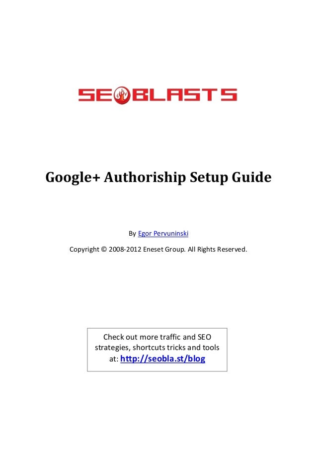 Google+ Authoriship Setup