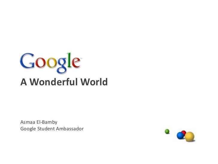 Google A Wonderful World