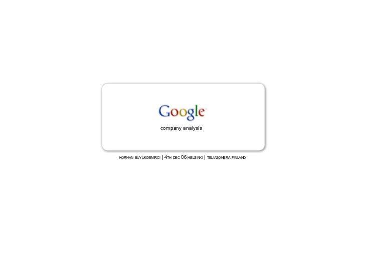 Google Brand Analysis