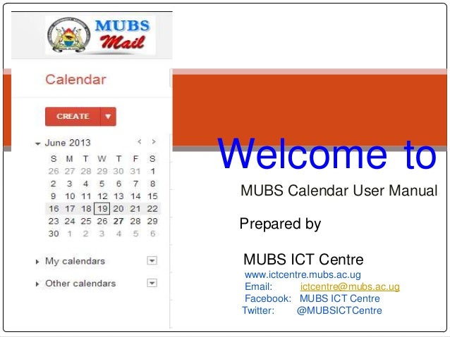 Makerere University Business School Google calendar user manual