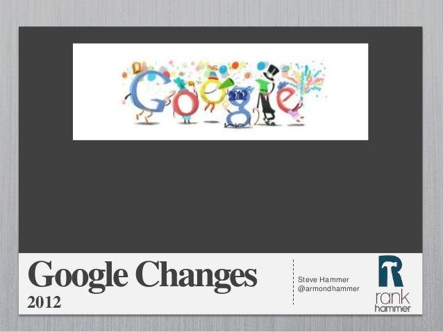 Google Changes   Steve Hammer                 @armondhammer2012