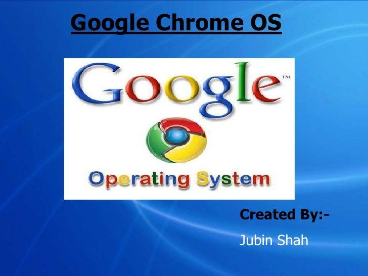 Google Chrome Os new inovation by Google