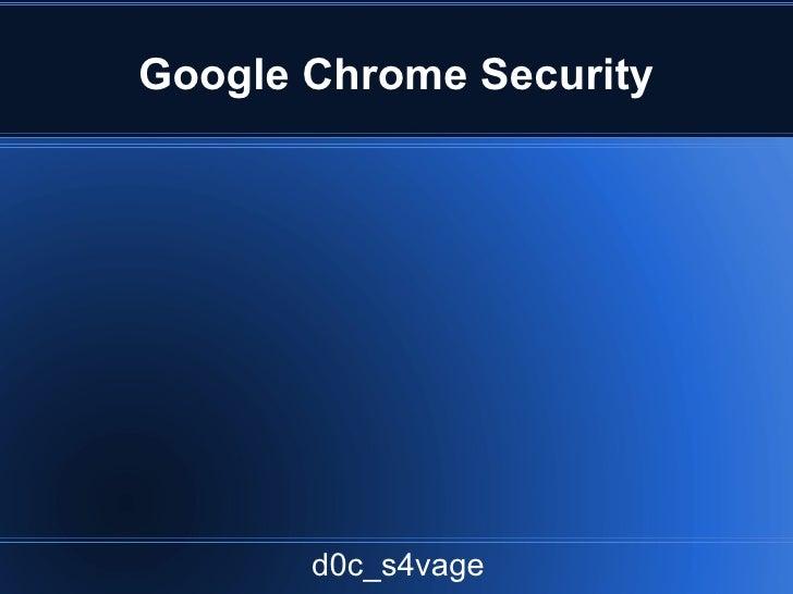 Google chrome sandbox