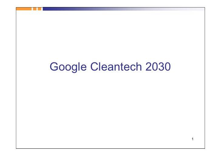 Google Cleantech 2030