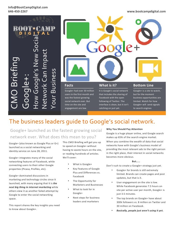 Google+ for Business: Boot Camp Digital presents a CMO Briefing