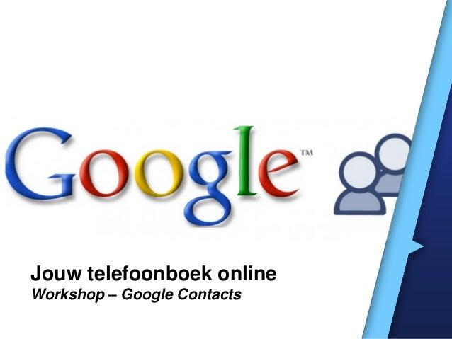 Cursus: Google Contacts
