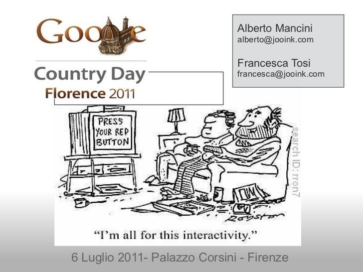 Alberto Mancini                              alberto@jooink.com                              Francesca Tosi               ...