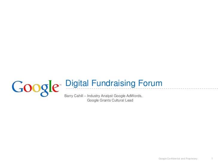 Google digital fundraising forum