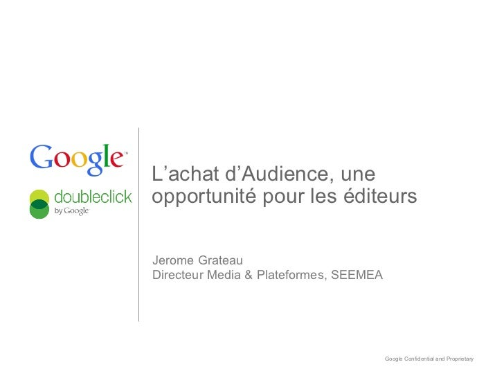 Google DbClick Presentation, ATS Paris