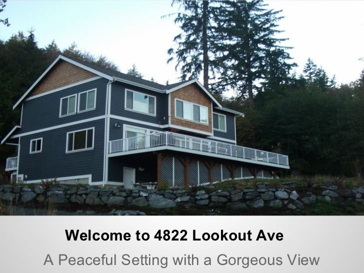 Welcome to 4822 Lookout Ave Bellingham WA
