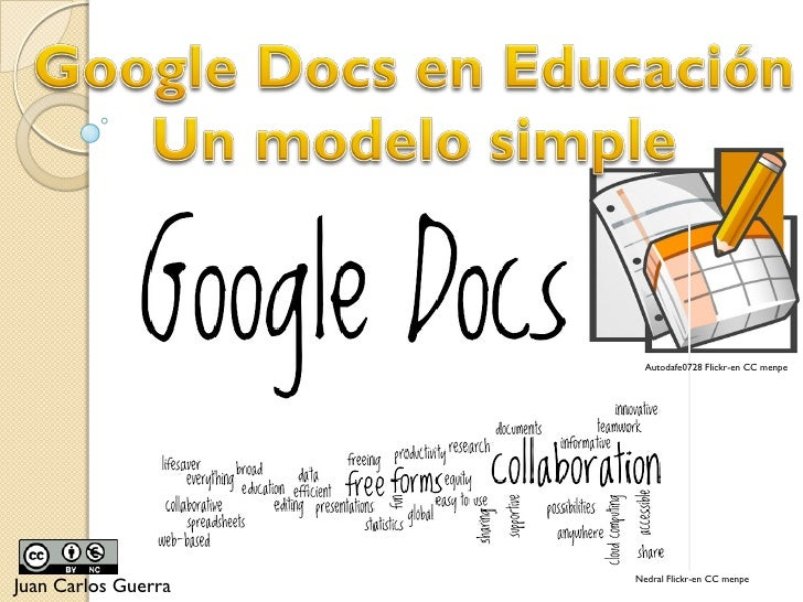 Google Docs - Un modelo simple para la enseñanza