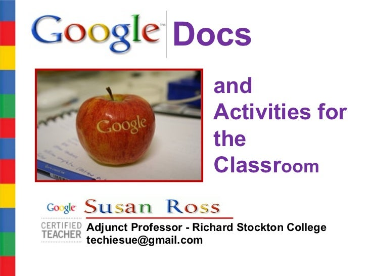 Docs                       and                       Activities for                       the                       Classr...