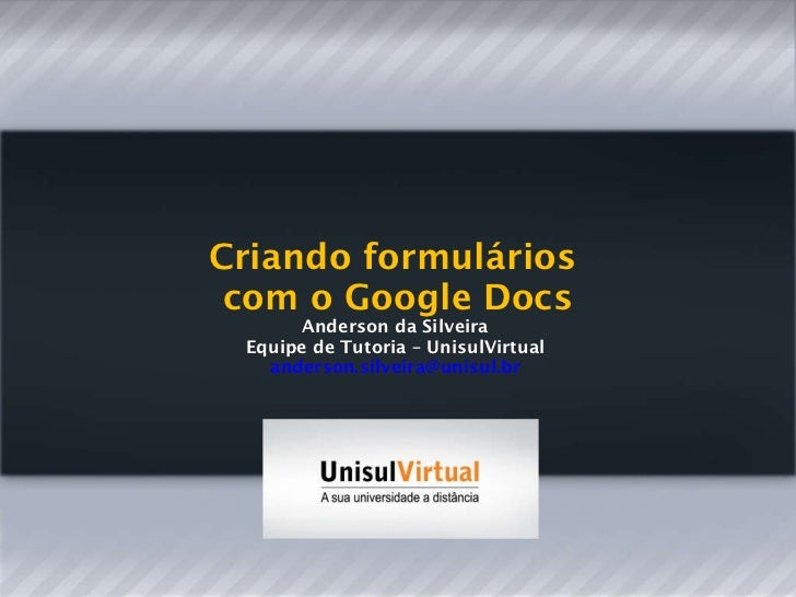 Google docs anderson