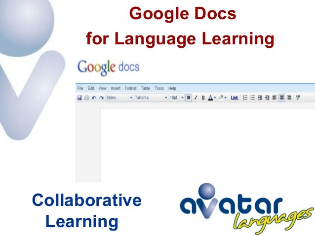 Google Docs for Language Learning Collaborative Learning