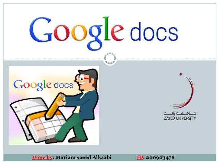 Google docs m