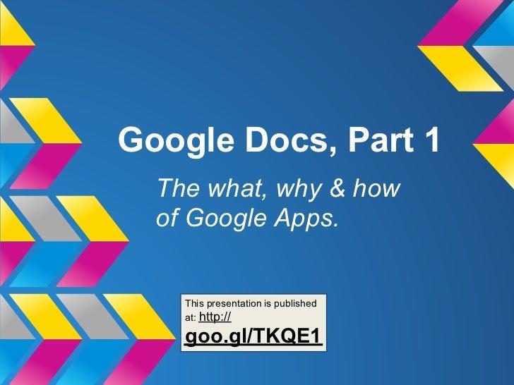 Google docs part 1