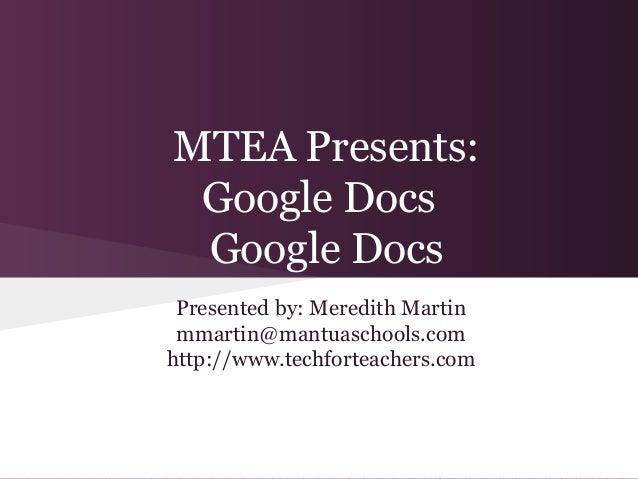 Intro to Google Docs