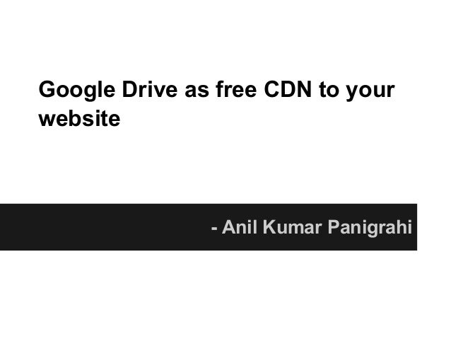 Google drive as free cdn to your website