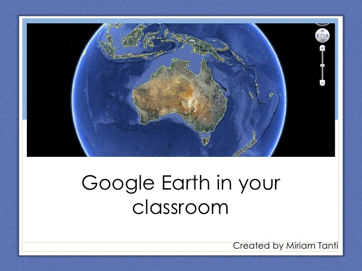 Google Earth in the classroom