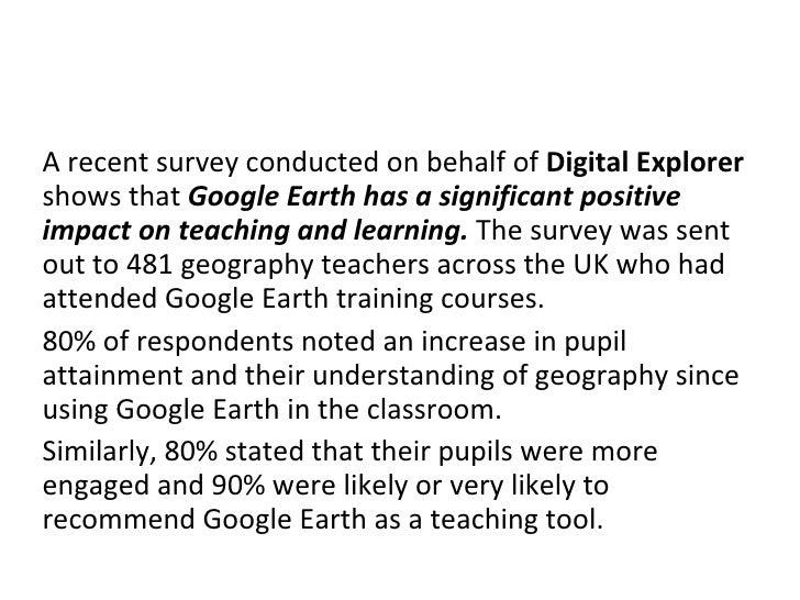 Google earth skills