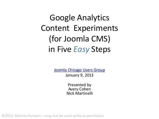 Google Analytics                      Content Experiments                        (for Joomla CMS)                        i...