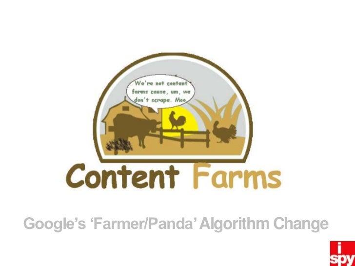 Google's 'Farmer/Panda' Algorithm Change<br />