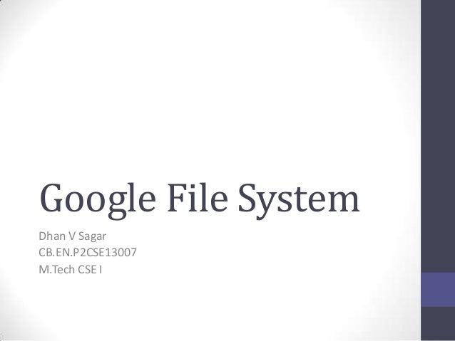 Google file system