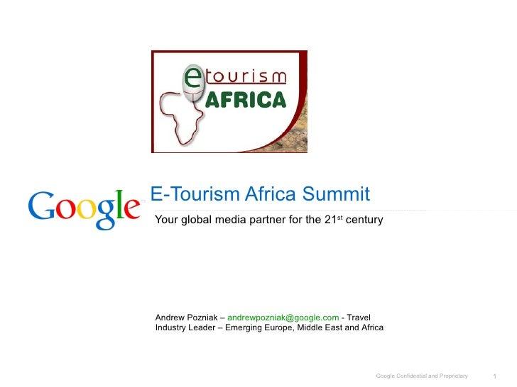 Google-  E Tourism Africa