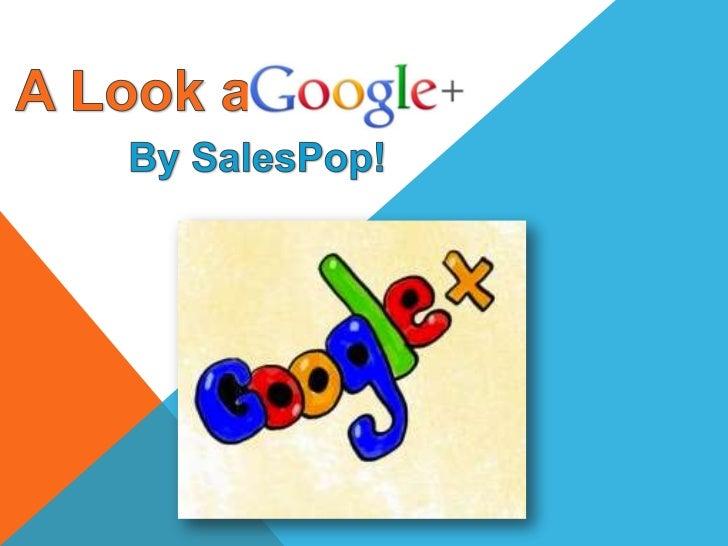 Google+ for sales pop