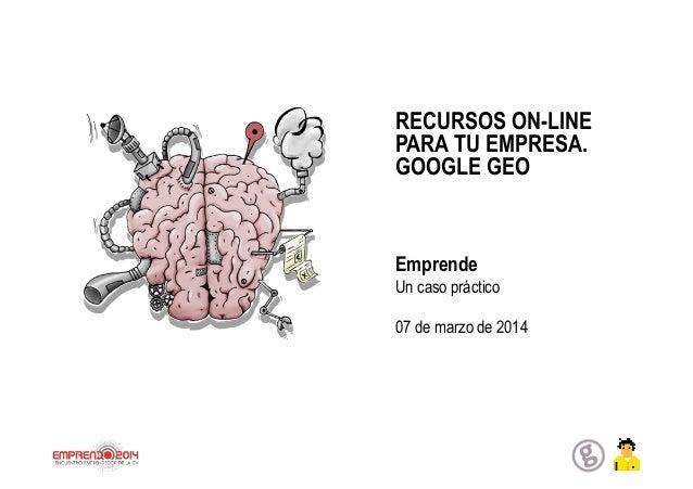 Google geo, recursos online para tu empresa