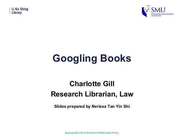 Googling Books
