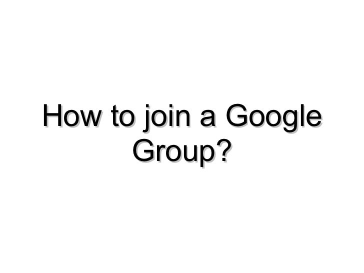 How to join a Google Group?