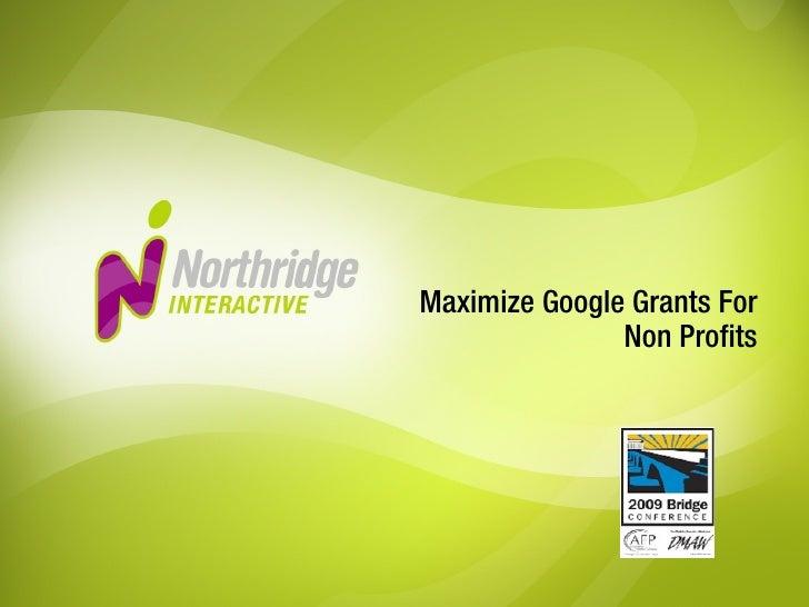 Maximize Google Grants For Non Profits