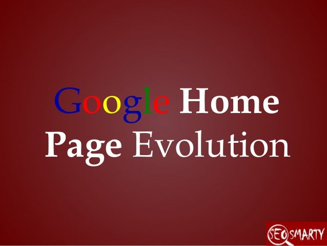 Google home page evolution - Google home page design ...