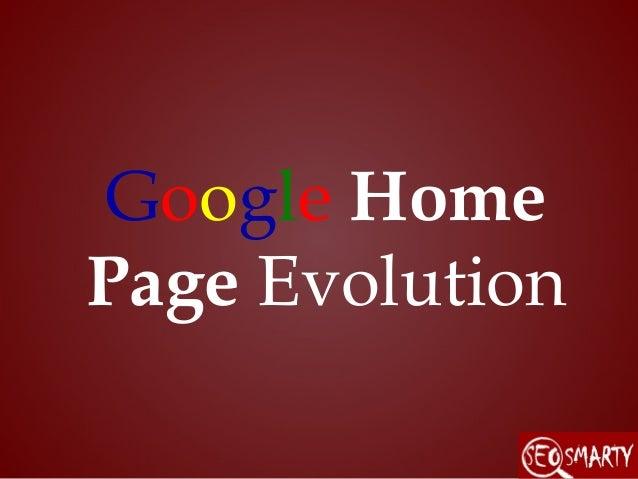 Google Home Page Evolution