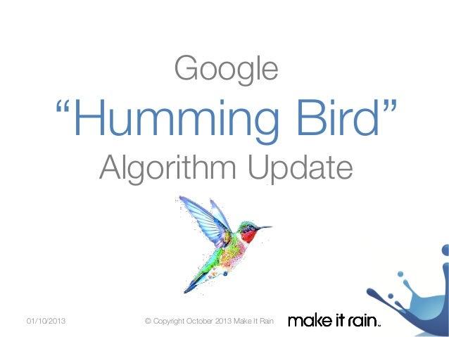 Google Humming Bird Algorithm Update